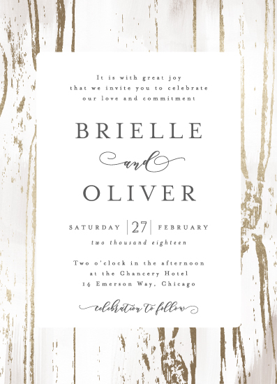 wedding invitations - Gilded Woodgrain by Melanie Severin