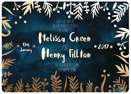 wedding invitations - winter invitation by holaholga