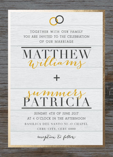 wedding invitations - Wooden by Jann Javier
