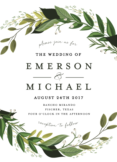 wedding invitations - Vines of Green by Susan Moyal