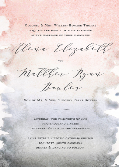wedding invitations - Coastal Watercolor by Meredith Walker