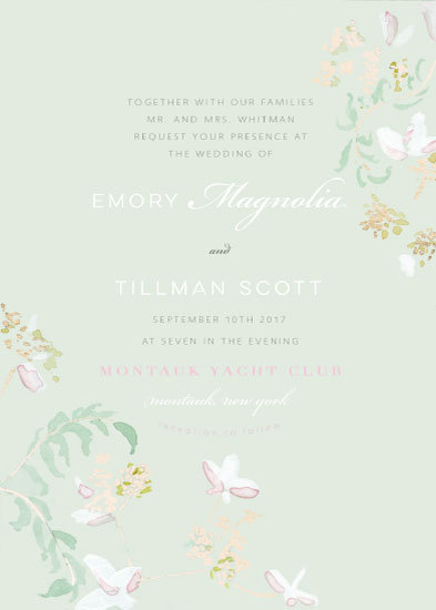 wedding invitations - Chinoiserie by Emily Gill