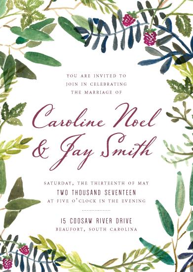 wedding invitations - Watercolor Garden by Meredith Walker