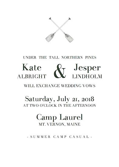 wedding invitations - Camp Laurel by Addie Kay