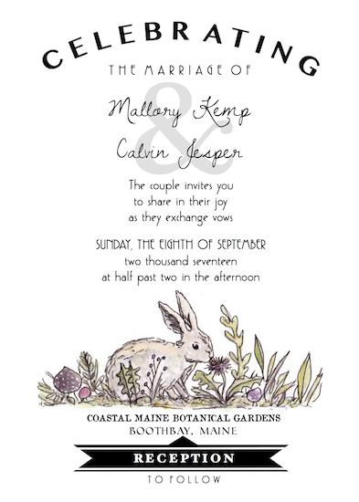 wedding invitations - Woodland by Addie Kay