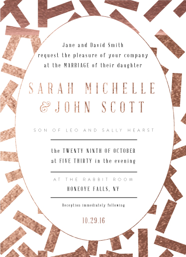wedding invitations - Confetti Night by Ilana Griffo