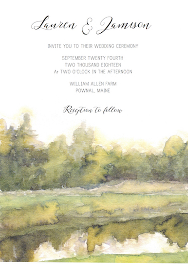 wedding invitations - Reflections by Addie Kay