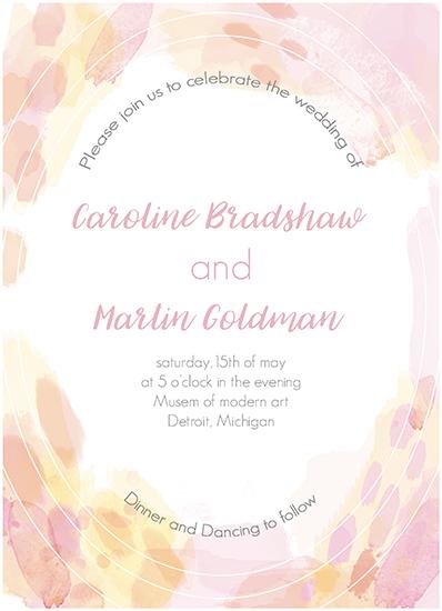 wedding invitations - light pink by holaholga