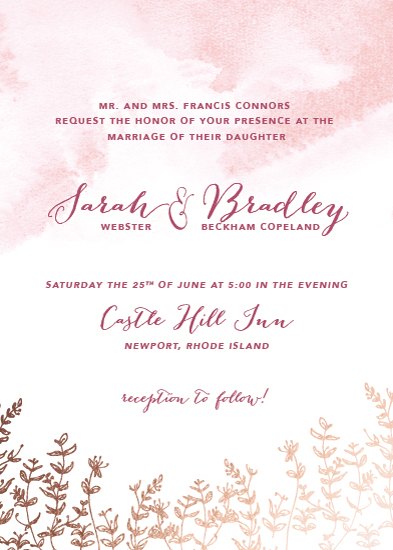wedding invitations - Rose Wash by Brydon Holsey