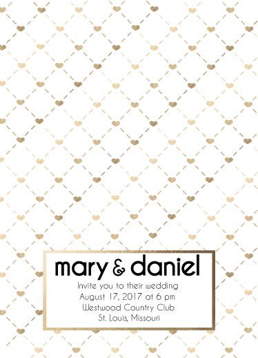 wedding invitations - heart grid matrix by Concept Designz