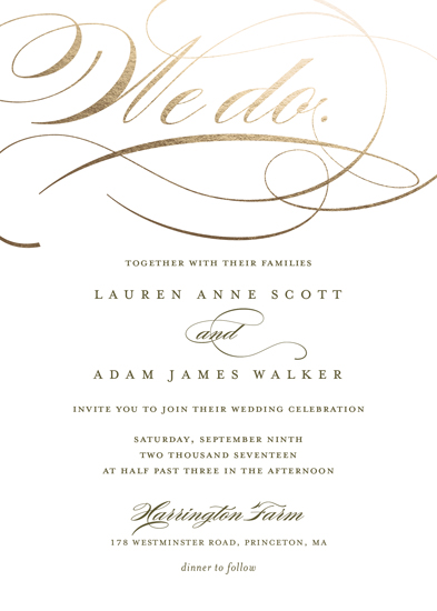 wedding invitations - We Do. by Eric Clegg