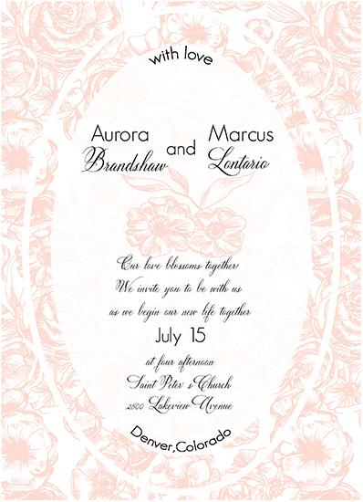 wedding invitations - bloom card by holaholga
