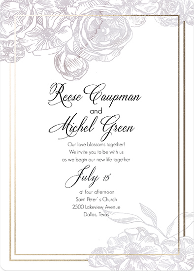 wedding invitations - Soft watercolor card with flowers by holaholga