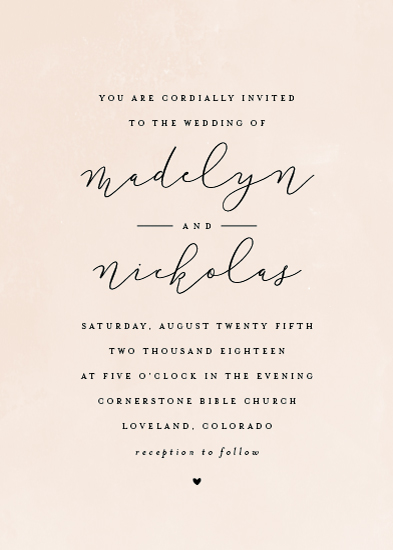 wedding invitations - Simply Perfect by peony papeterie