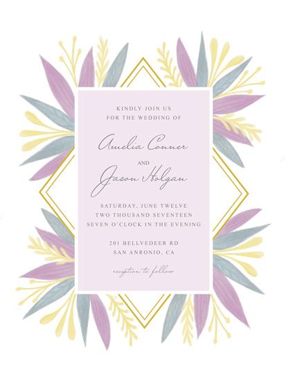 wedding invitations - Pastel Bouquet by Marta Berk