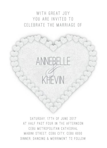 wedding invitations - Grey Wedding Card by Ronnel