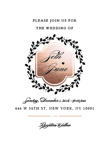 wedding invitations - Golden Era by Rhea Jane Baricuatro