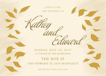 falling petals - wedding invitations