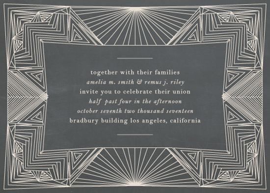 wedding invitations - Art Deco Frame by Caitlin Mac