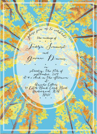 wedding invitations - Autumn Leaves by Marieke Fidler