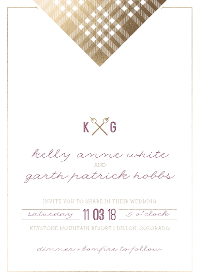 wedding invitations bonfire flannel at minted com
