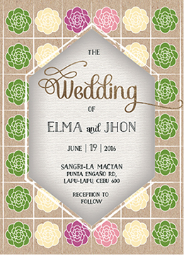 wedding invitations - Varity of flowers by Onie