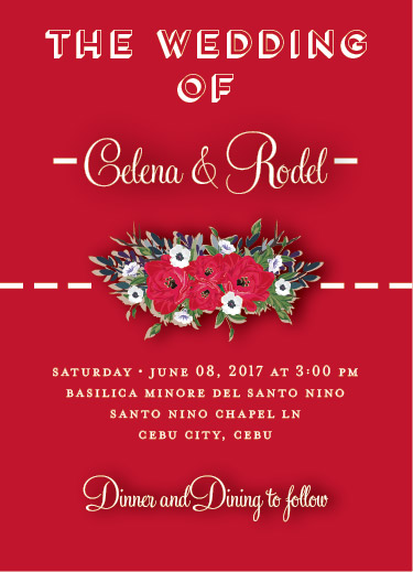 wedding invitations - Red roses wedding cards by JoycesRoses