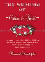 Red roses wedding cards by JoycesRoses