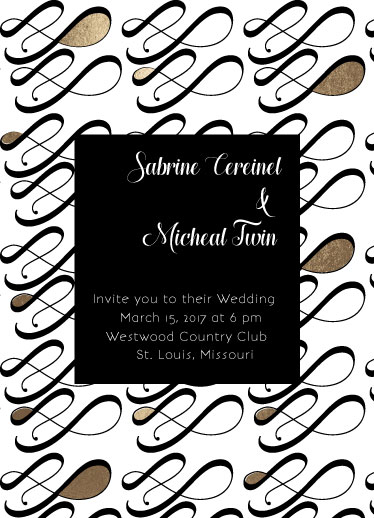 wedding invitations - foiled infinity by Concept Designz