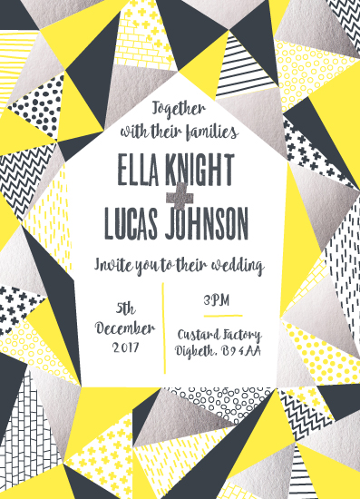 wedding invitations - Scandi Triangles by Jessamine Payne