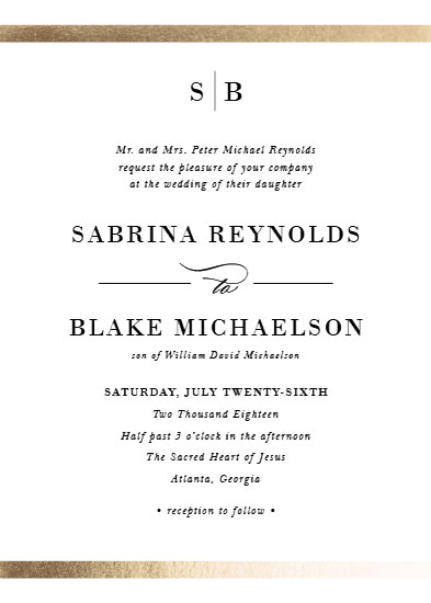 wedding invitations - Classic monogram by Stacey Meacham