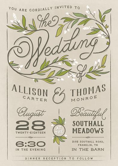 wedding invitations - Rustic Love by GeekInk Design