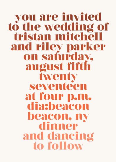 wedding invitations - Rainbow Roll by Katharine Watson