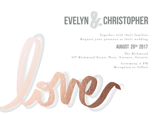 wedding invitations - Love In Writing by Tiffany Wong