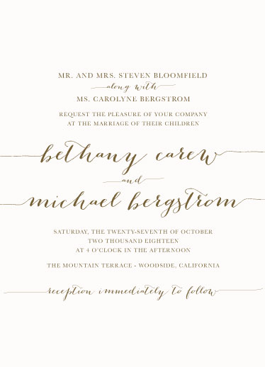wedding invitations - Classic and Elegant by Sarah Tarantino