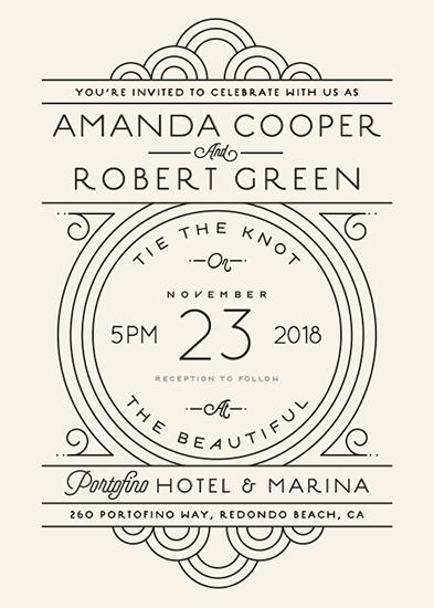 wedding invitations - Deco Nouveau by GeekInk Design