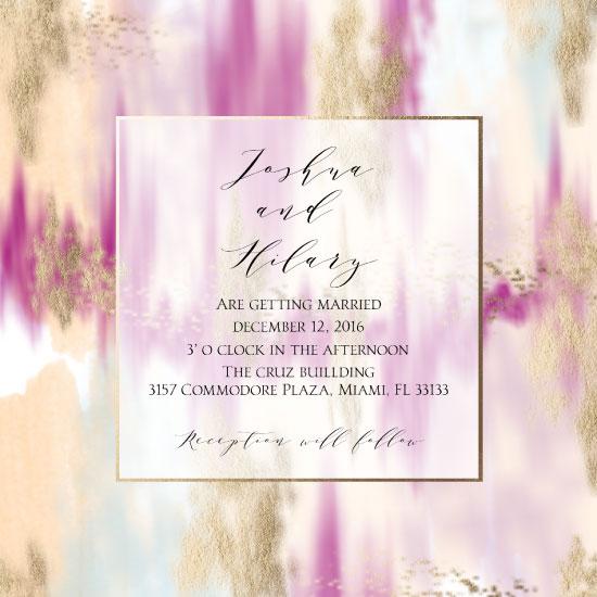 wedding invitations - Abstract Wedding Invitation by Printaholics
