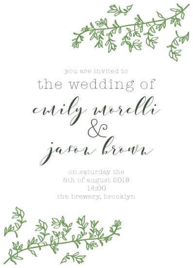 wedding invitations - Thyme by Zani