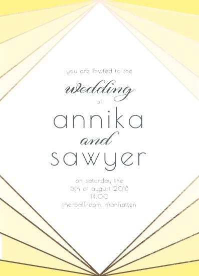 wedding invitations - Sunshine deco by Zani