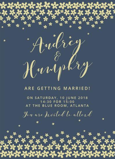 wedding invitations - Flower frame by Zani
