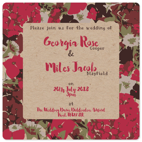 wedding invitations - Garden Florals by Jessamine Payne