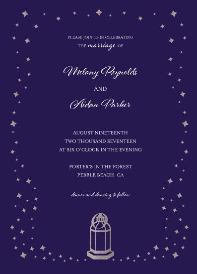 wedding invitations - Light Up the Night by Anne Gaines