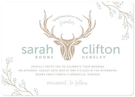 wedding invitations - Deerly Botanical by Carrie Hendrix