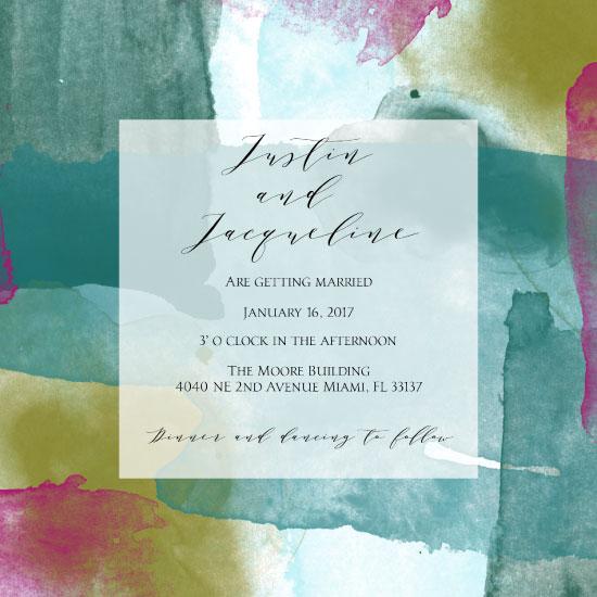 wedding invitations - Abstract Wedding Invitation 2 by Printaholics