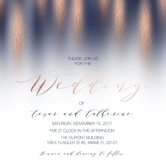 wedding invitations - Paint Strokes Wedding Invitation by Printaholics