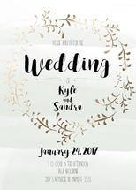 Gold Wreath Wedding Inv... by Printaholics