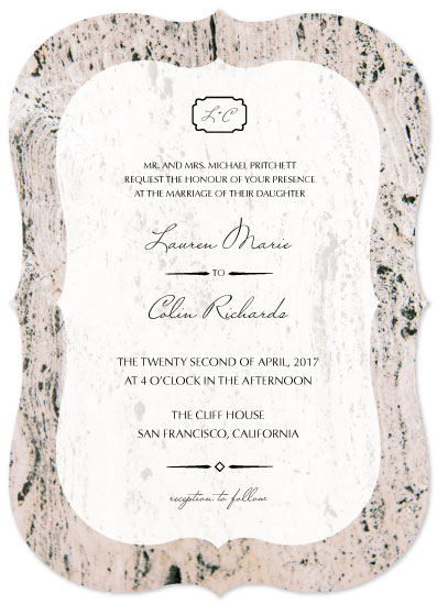 wedding invitations - Marbleous by Anne Gaines