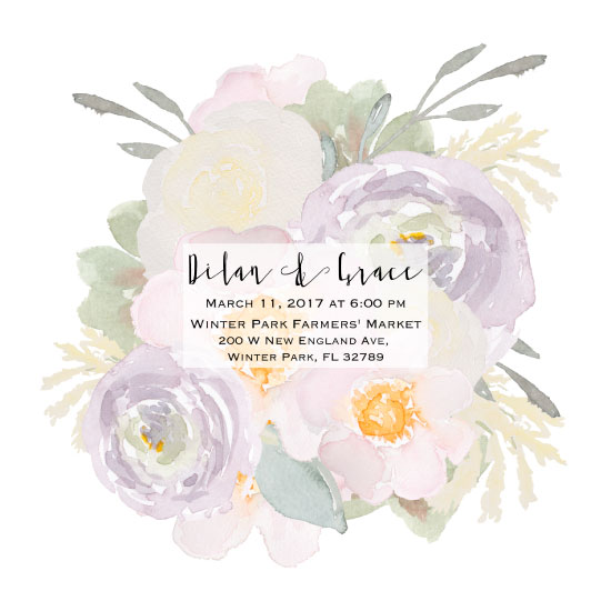 wedding invitations - Romantic Floral Wedding Invitation by Printaholics