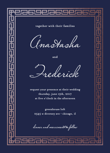 wedding invitations - Cadre by Marnel