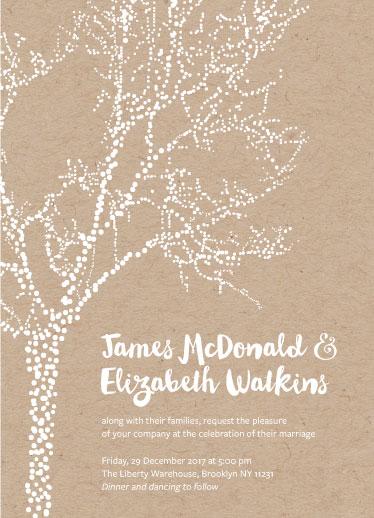 wedding invitations - Winter Arbor by Abby Legge